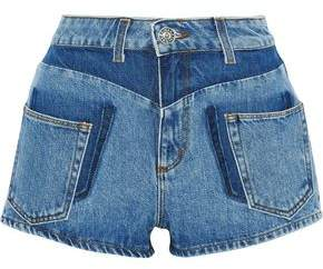 Sandro Talk Two-tone Denim Shorts