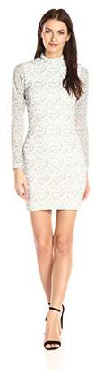 Dress the Population Women's Penelope Long Sleeve Lace Dress