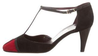 Salvatore Ferragamo Suede Ankle Strap Sandals