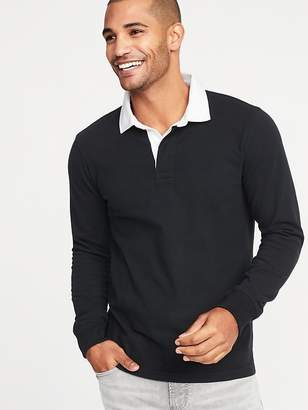 Old Navy Solid-Color Jersey Rugby for Men