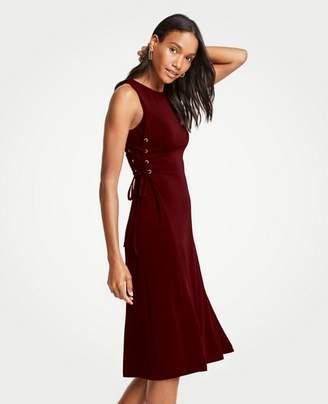 Ann Taylor Petite Side Tie Knit Flare Dress