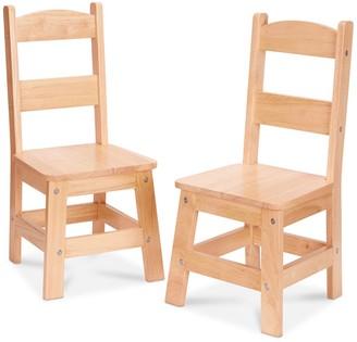Melissa & Doug 2-pk. Wooden Chair Set