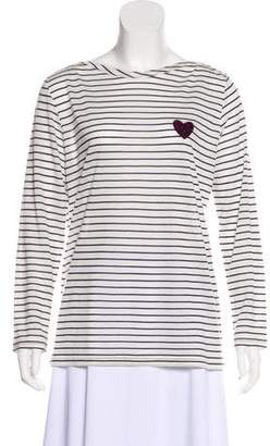 Sonia Rykiel Sonia by Long Sleeve Striped Top