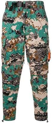 Diesel cargo trousers with inner-leg zips
