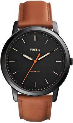 Fossil Analog Minimalist Three-Hand Quartz Strap Watch