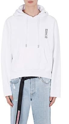 Off-White Men's Pill-Graphic Cotton Fleece Crop Hoodie