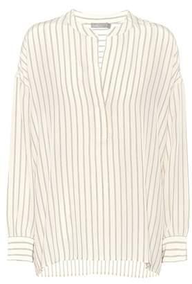 Vince Striped silk blouse