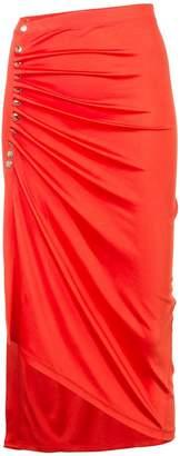 Paco Rabanne draped wrap skirt