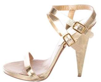 DSQUARED2 Metallic Ankle Strap Sandals