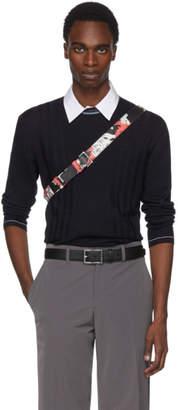 Prada Navy Contrast Collar Sweater
