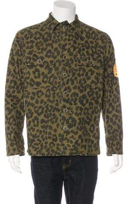 Saint Laurent 2016 Leopard Print Field Jacket