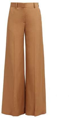 Bella Freud Bianca Wide Leg Trousers - Womens - Camel