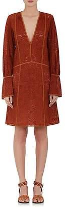 Derek Lam WOMEN'S COTTON GEOMETRIC-EYELET TUNIC DRESS