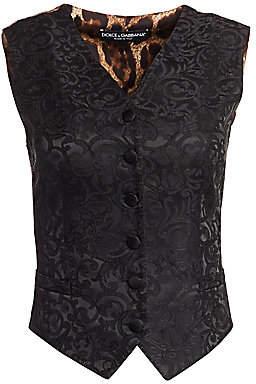 Dolce & Gabbana Women's Floral Jacquard Vest