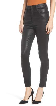 A Gold E AGOLDE Roxanne Faux Leather High Waist Ankle Skinny Pants
