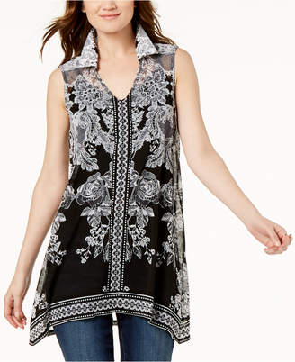 INC International Concepts I.n.c. Printed Handkerchief Tunic, Created for Macy's