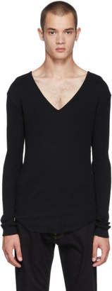 Balmain Black V-Neck T-Shirt