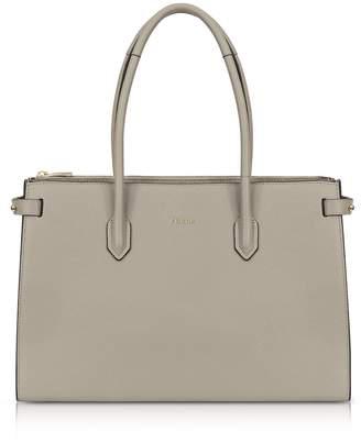 Furla Sand Leather E/w Pin Medium Tote Bag