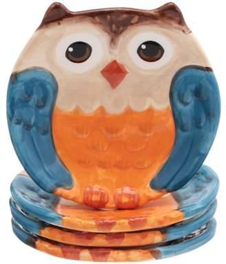 Mainstays Figural Owl Set of 4 Salad Plates