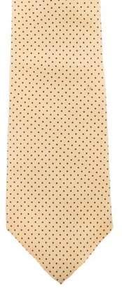 Christian Dior Polka Dot Silk Tie