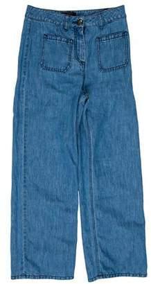 Belstaff Mid-Rise Chambray Pants