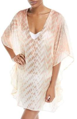Flora Bella Vilar V-Neck Short Silk Kaftan Coverup