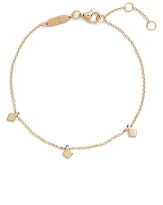 Argentovivo Beaded Enamel Diamond Drop Bracelet