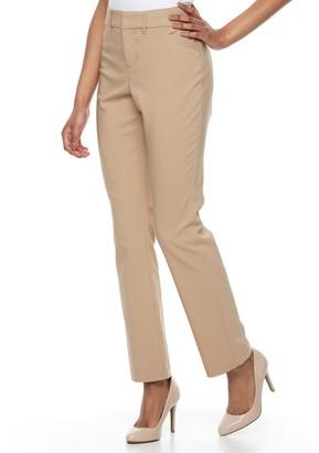 3db32a5667d2a Gloria Vanderbilt Women's Haven Microtech Straight-Leg Dress Pants