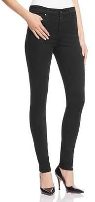 AG Jeans Farrah High-Rise Sateen Skinny Jeans in Black
