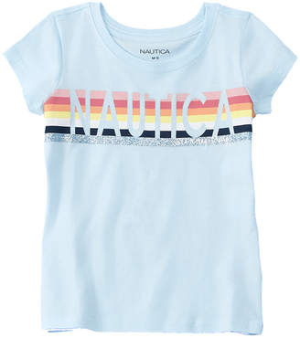 Nautica Girls' Glitter T-Shirt