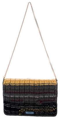 Prada 2017 Knit Etiquette Chain Shoulder Bag w/ Tags