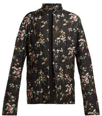 Haider Ackermann Floral Printed Quilted Jacket - Womens - Black Multi