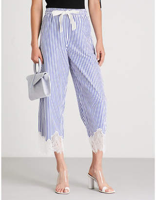 Mo&Co. Striped cotton trousers