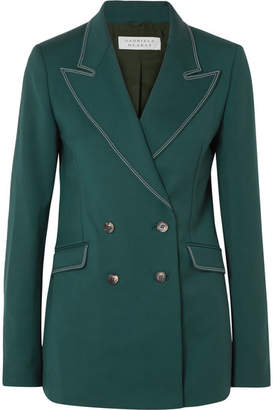 Gabriela Hearst Angela Double-breasted Wool-blend Blazer - Green