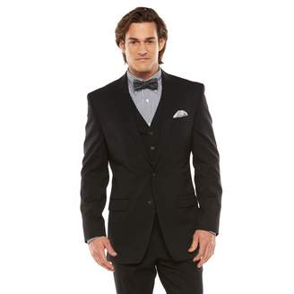 Chaps Big & Tall Classic-Fit Black Shadow Wool-Blend Comfort Stretch Suit Jacket