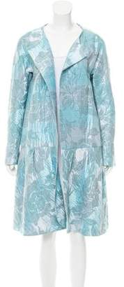 Barbara Tfank Patterned Open Front Coat