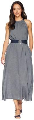 Ellen Tracy Halter Dress w/ Belt Women's Dress