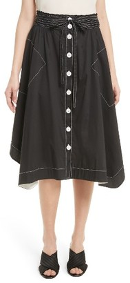 Women's Tracy Reese Button Front Skirt $228 thestylecure.com