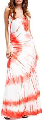 OUYAWEI Fashion Middle Waist Button Line Design Concise Strap Dress Maxiskirt( S)