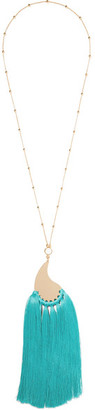 Etro - Gold-tone, Tassel And Stone Necklace - one size $545 thestylecure.com