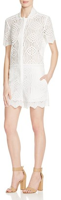 Whistles Clementine Circle Lace Romper - 100% Bloomingdale's Exclusive $370 thestylecure.com
