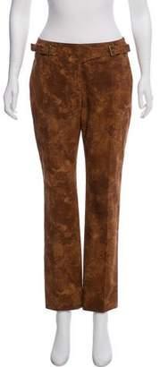 Celine Distressed Mid-Rise Pants