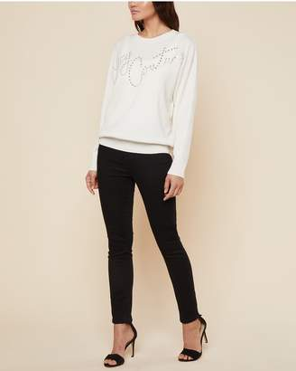 Juicy Couture Swarovski Embellished Cashmere Pullover