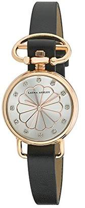 Laura Ashley Women's LA31001RG Analog Display Japanese Quartz Black Watch $42.39 thestylecure.com