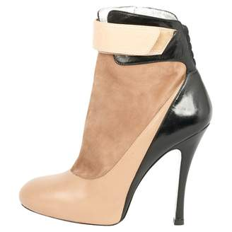 Barbara Bui Beige Leather Ankle boots