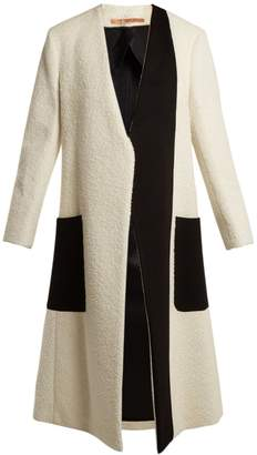 SUMMA Collarless bi-colour coat