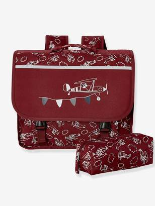 Vertbaudet Satchel with Airplanes & Matching Pencil Case, for Boys
