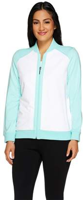 Susan Graver Weekend French Terry Colorblock Bomber Jacket