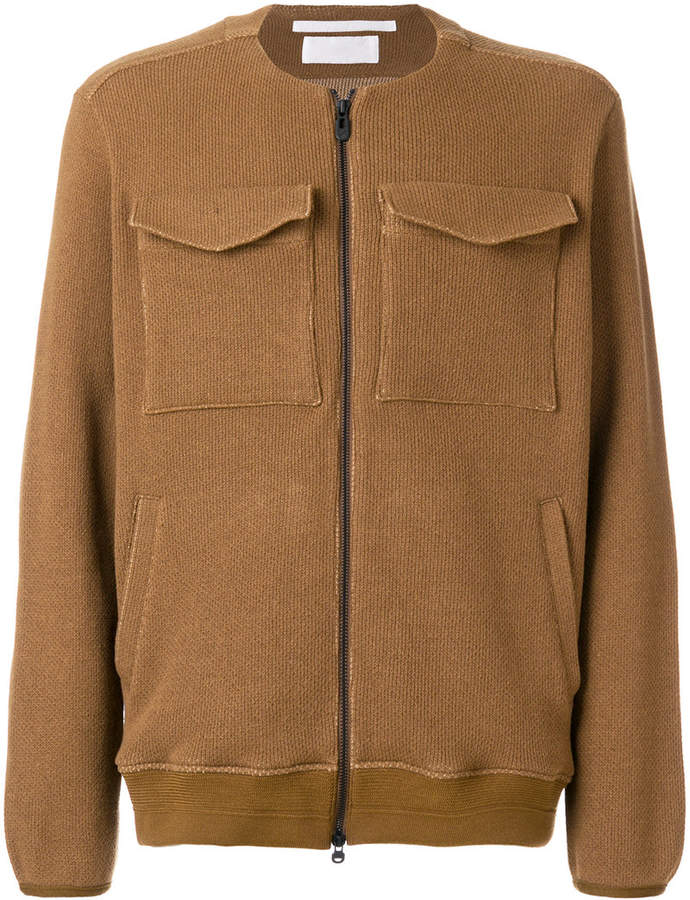 White Mountaineering collarless jacket