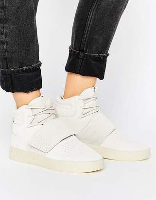 adidas Beige Tubular Invader Strap Trainers